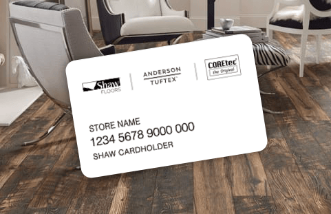 Shaw Flooring credit card in Columbia, MO | Johnston Paint & Decorating
