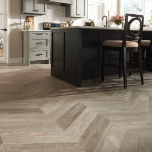 Glee chevron tile flooring | Johnston Paint & Decorating