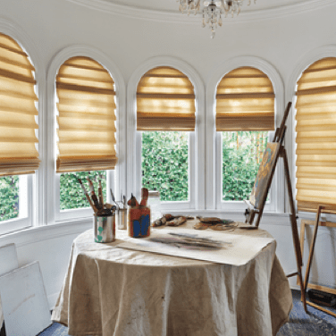 Modern Roman Shades | Johnston Paint & Decorating Hunter Douglas Window Coverings