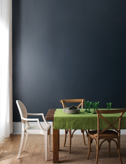 Blue colorwall | Johnston Paint & Decorating