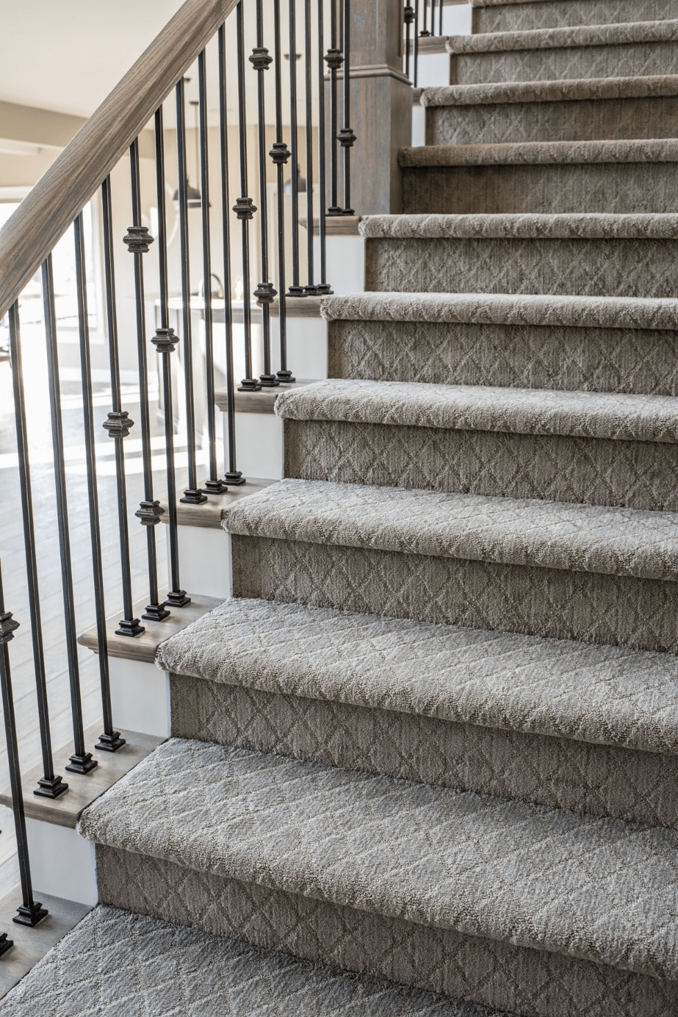 Stairway carpet | Johnston Paint & Decorating