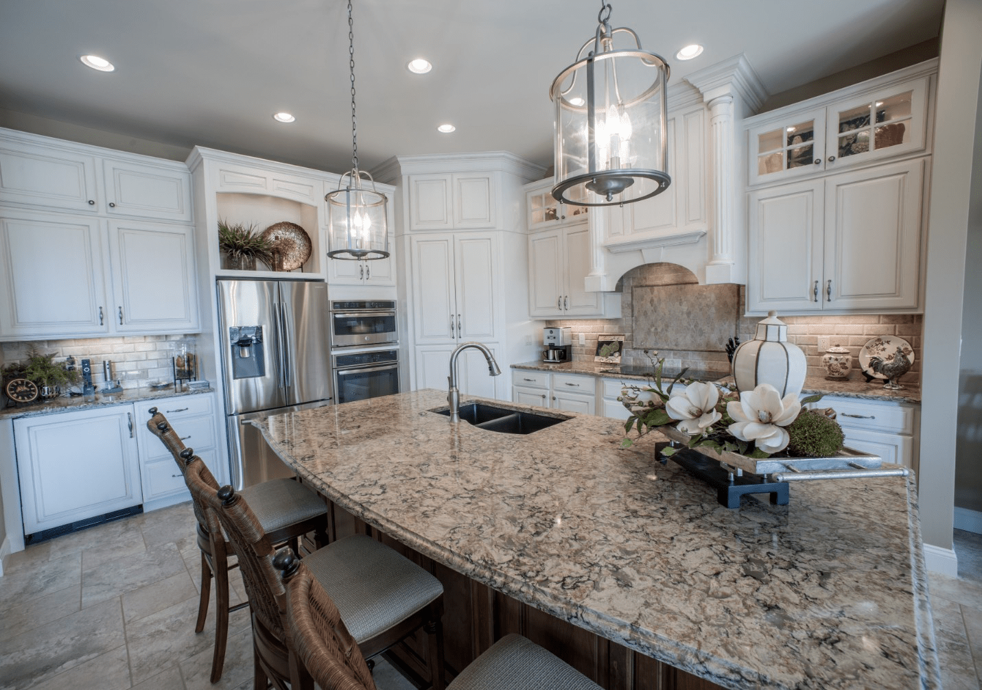 Kitchen cabinets and countertop | Johnston Paint & Decorating
