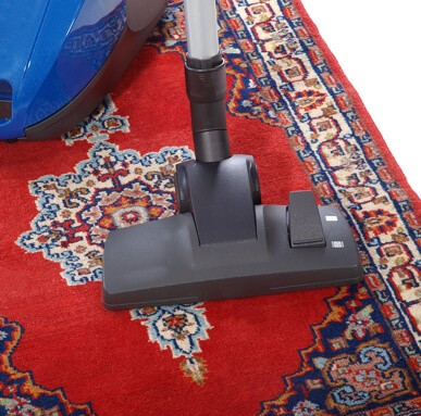 Rug cleaning by vaccum cleaner   Johnston Paint & Decorating